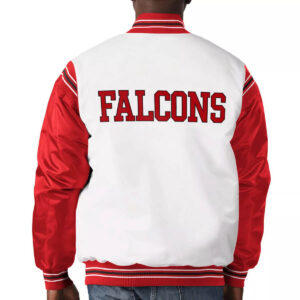 Atlanta Falcons Historic Logo Renegade Satin Varsity Jacket
