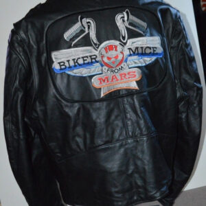 Biker Mice From Mars Black Leather Jacket
