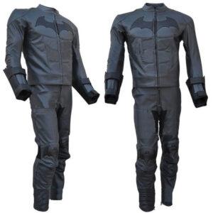 Black Batman Motorcycle Sports Racing Leather Suit