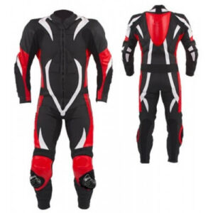 Black California Motorcycle Racing Leather Suit