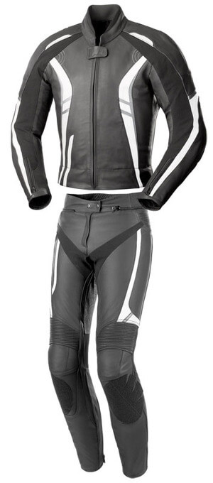 Black Foxton Motorcycle Racing Leather Suit