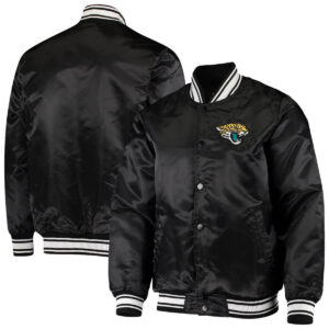 Black Jacksonville Jaguars Satin Varsity Jacket