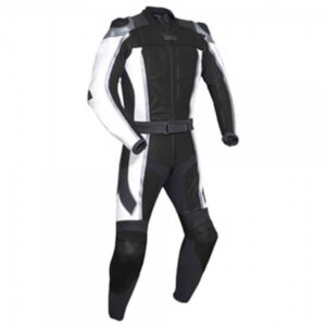 Black Motorcycle Racing Leather Suit