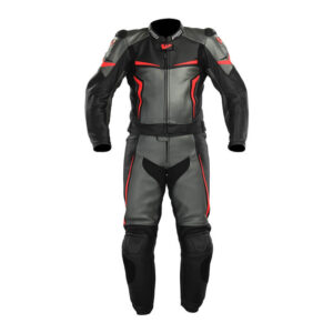 Black Night Eagle Motorcycle Leather Racing Suit