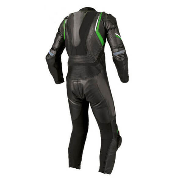 Black and Green Motorcycle Racing Sports Leather Suit