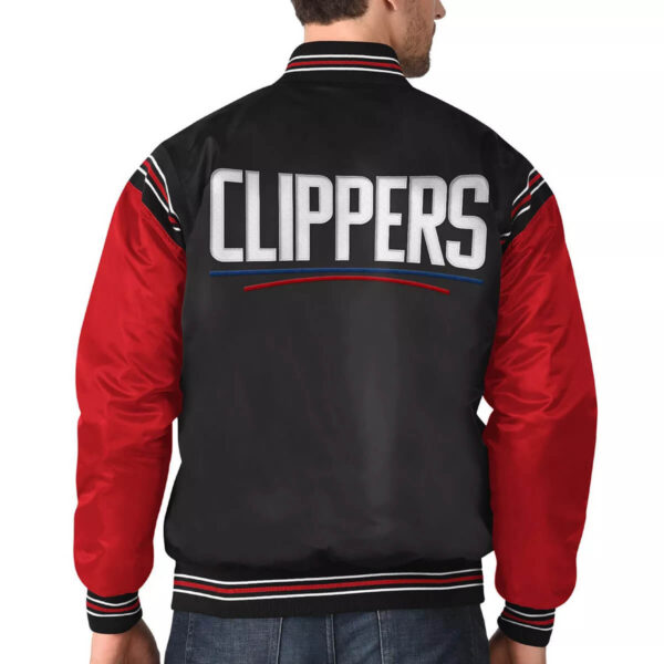 Black&Red Los Angeles Clippers Varsity Satin Jacket