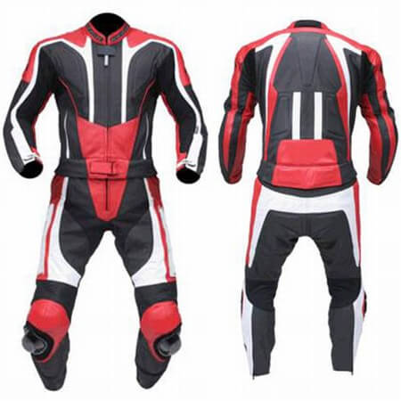 Black&Red Motorcycle Racing Leather Suit