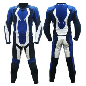 Blue Motorcycle Racing Leather Suit
