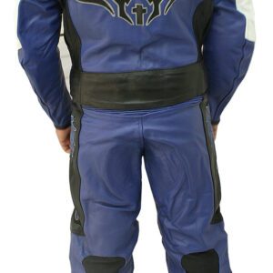Blue Motorcycle Racing Sports Leather Suit