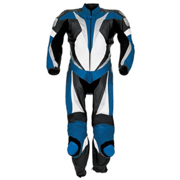 Blue Motorcycle Sports Racing Leather Suit