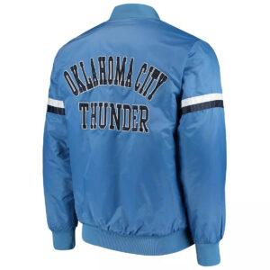 Blue Oklahoma City Thunder Varsity Satin Jacket
