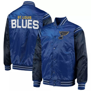 Blue&Navy St. Louis Blues Satin Varsity Jacket