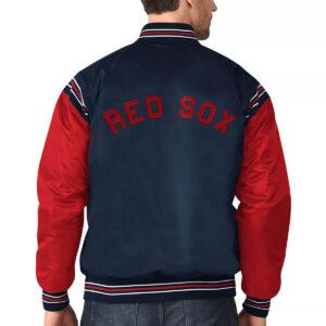 Boston Red Sox Navy&Red Varsity Satin Jacket