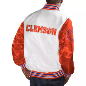 Clemson Tigers White and Orange Cotton Jacket