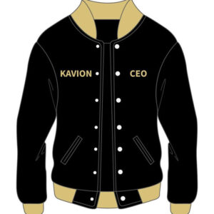 Custom Black Varsity Cotton Jacket