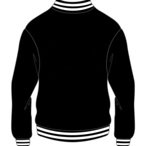 Custom Design Black Varsity Bomber Jacket