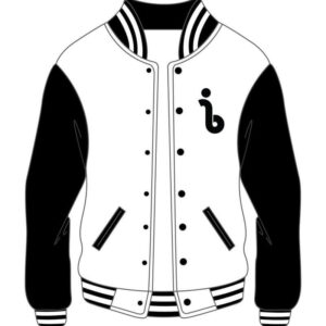 Custom Design Black and White Varsity Jacket