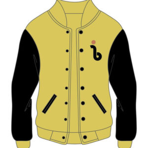 Custom Design Yellow and Black Varsity Jacket