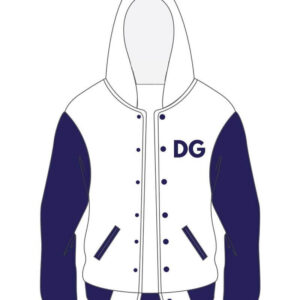 Custom White and Purple Varsity Cotton Jacket
