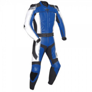 Dark Blue Motorcycle Racing Leather Suit