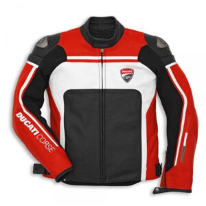 Ducati Corse Motorcycle Racing Sports Leather Jacket