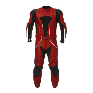 Gladiator Red Motorcycle Leather Racing Suit