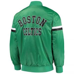 Green Boston Celtics The Champ Varsity Satin Jacket