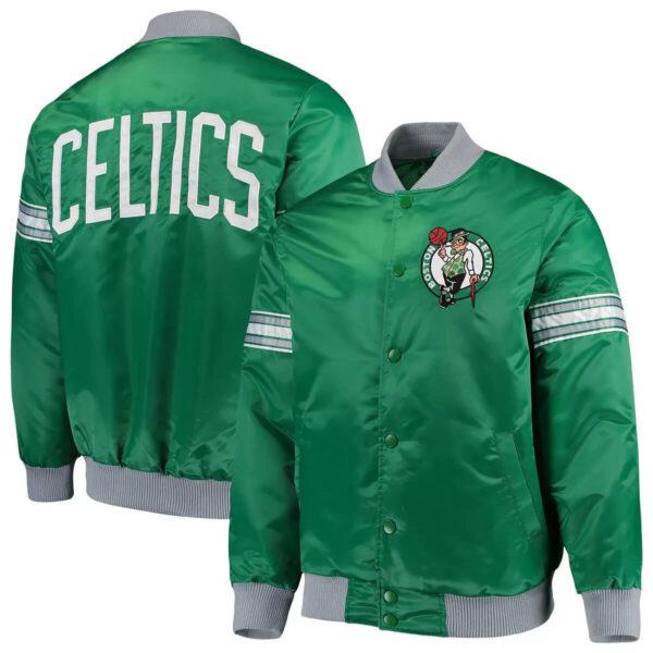 Green Boston Celtics The Draft Pick Varsity Satin Jacket