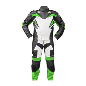Green Madrid Motorcycle Leather Racing Suit