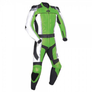 Green Motorcycle Racing Leather Suit