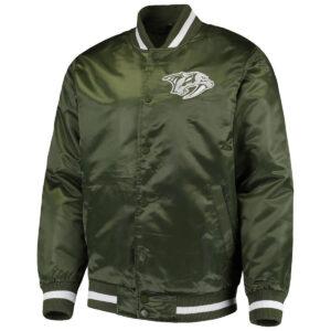 Green Nashville Predators Satin Jacket