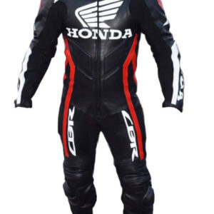Honda Motorcycle Racing Sports Leather Suit