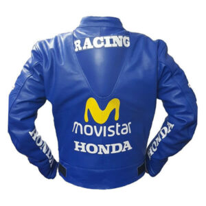 Honda Repsol Movistar Motorcycle Leather Jacket