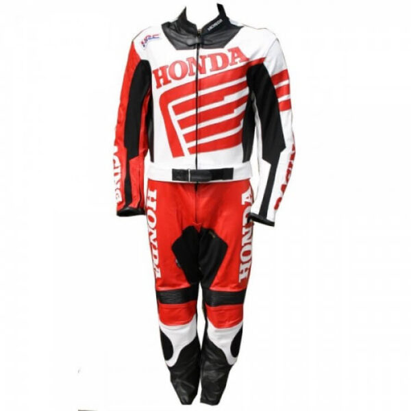 Honda Wing Racing Motorcycle Leather Suit