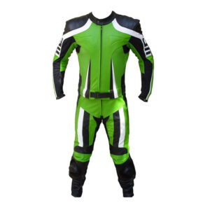 Hooper Green Motorcycle Leather Racing Suit