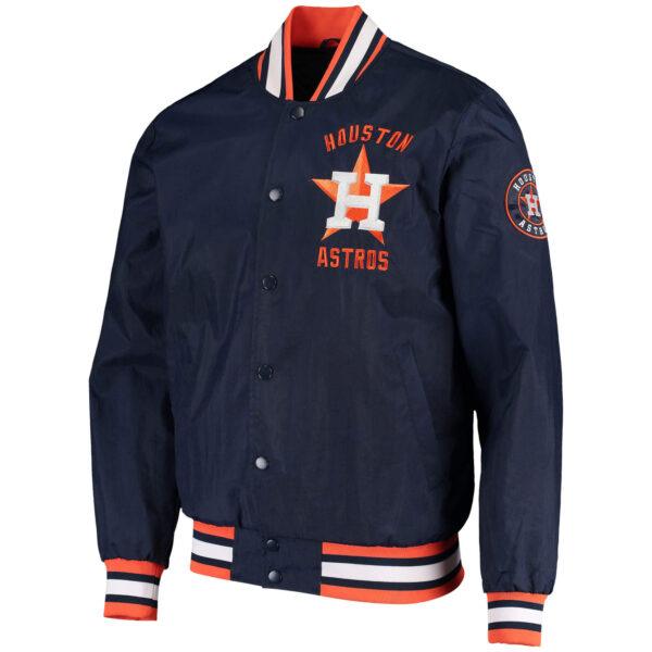Houston Astros The Jett III Satin Varsity Jacket