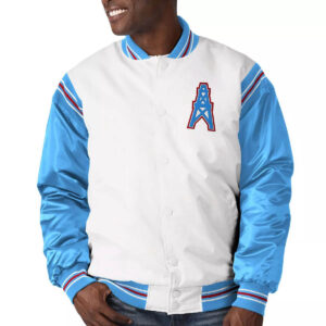 Houston Oilers Historic Logo Renegade Satin Jacket