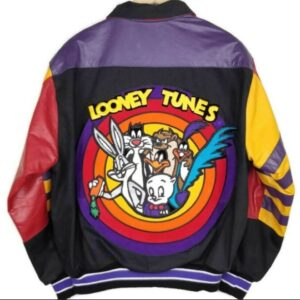 Jeff Hamilton Looney Tunes Black Leather Jacket