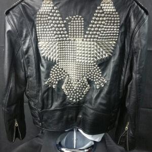 Jeff Hamilton Studded Eagle Leather Jacket
