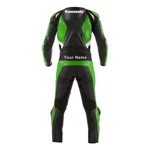 Kawasaki Black and Green Motorcycle Leather Suit
