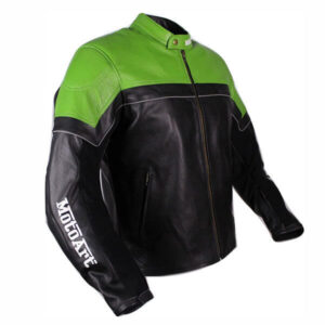Kawasaki Ninja Theme Motorcycle Leather Jacket