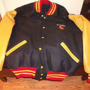 Kronk Boxing Leather Wool Varsity Jacket