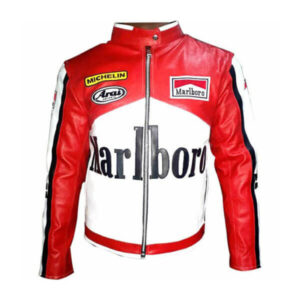 Marlboro McQueen Motorcycle Racing Leather Jacket