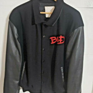 Michael Jackson Bad World Tour Wool Leather Varsity Jacket