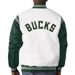 Milwaukee Bucks Renegade Varsity Satin Jacket