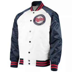 Minnesota Twins Clean-Up Hitter Satin Varsity Jacket