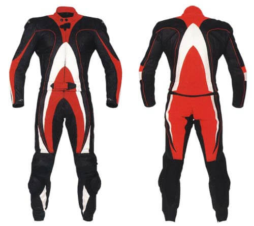 Motorcycle Black Sports Racing Leather Suit