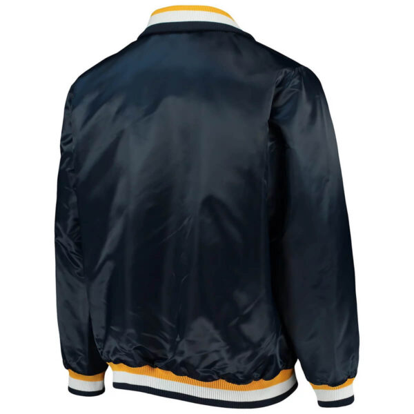 Navy Nashville Predators Captain II Satin Jacket