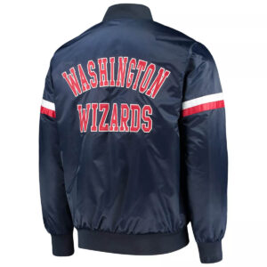 Navy Washington Wizards The Champ Varsity Satin Jacket