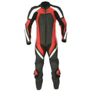 New Black and Red Motorcycle Racing Leather Suit